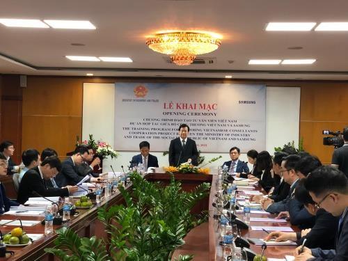 Samsung aide la formation des experts vietnamiens dans l'industrie auxiliaire hinh anh 1