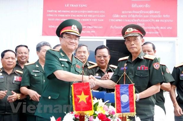 Laos : inauguration d'un centre d'entrainement en simulation construit avec l'aide du Vietnam hinh anh 1