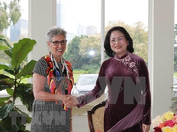 La vice-presidente Dang Thi Ngoc Thinh rencontre des dirigeants du Victoria (Australie) hinh anh 1