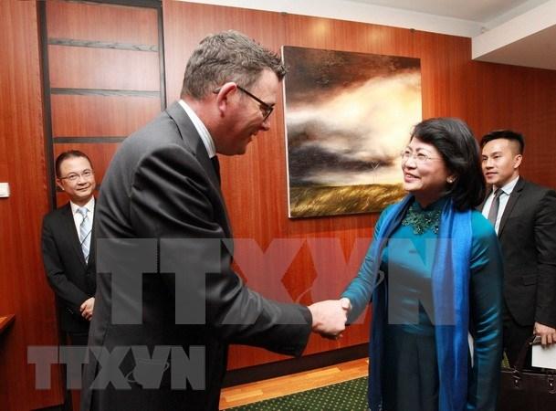 La vice-presidente Dang Thi Ngoc Thinh rencontre des dirigeants du Victoria (Australie) hinh anh 2
