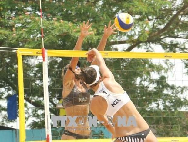 Le Kazakhstan sacre champion d'Asie de volley-ball de plage feminin 2018 hinh anh 1