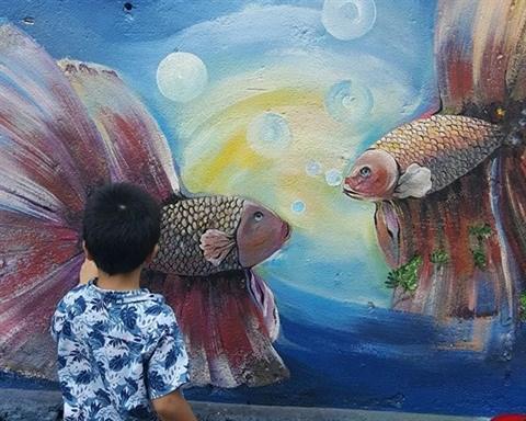 Da Nang: des fresques murales en plein cœur de la ville hinh anh 7