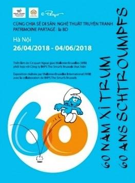 Patrimoine partage 2018: l'exposition «Les Schtroumpfs» a Hanoi hinh anh 1