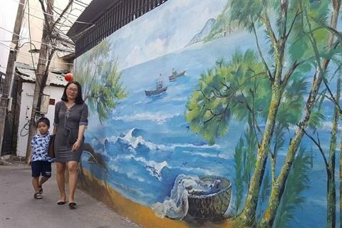 Da Nang: des fresques murales en plein cœur de la ville hinh anh 1