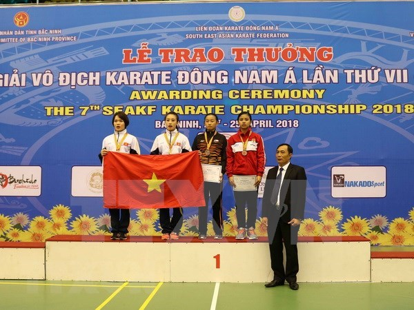 Karate : le Vietnam termine en tete des 7es Championnats d'Asie du Sud-Est hinh anh 1