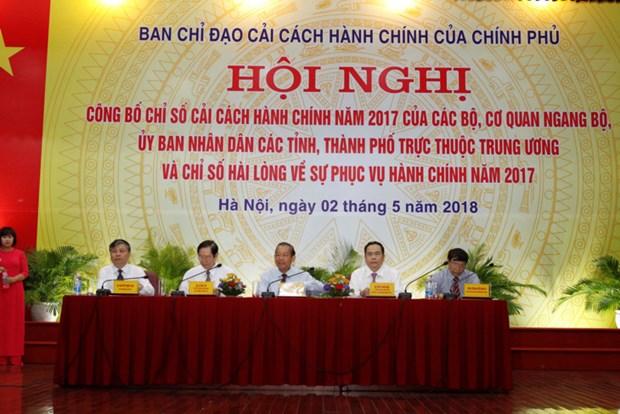 Indice de la reforme administrative 2017: Quang Ninh en tete du classement hinh anh 1