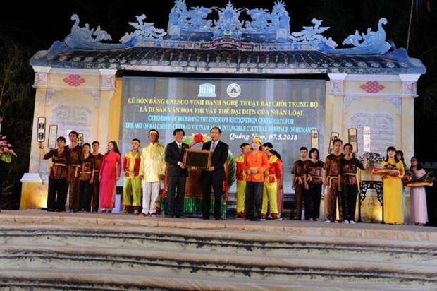 Quang Nam recoit le certificat de l'UNESCO pour l'art du « bai choi » hinh anh 1