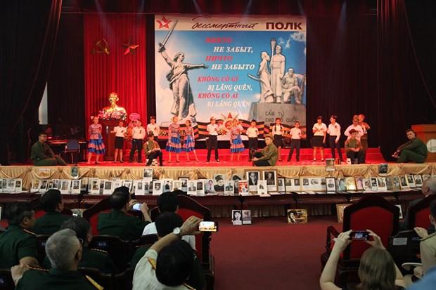 L'action «Regiment immortel», une demonstration de l'amitie Vietnam-Russie hinh anh 4
