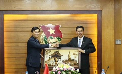 Renforcement des relations entre les deux jeunesses vietnamienne et laotienne hinh anh 1