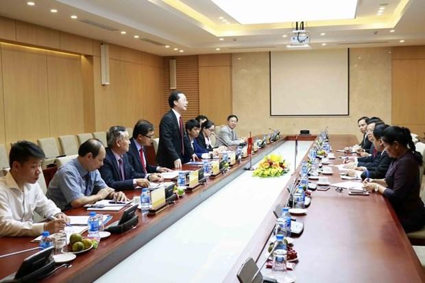 Le Vietnam et le Laos accelerent la construction du siege de l'AN laotienne hinh anh 1