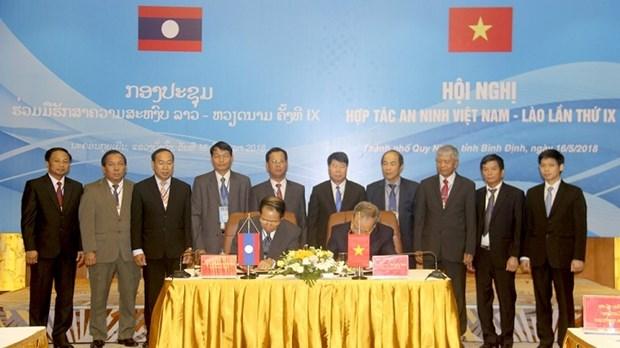 Vietnam et Laos renforcent leur cooperation dans la garantie de la securite hinh anh 1