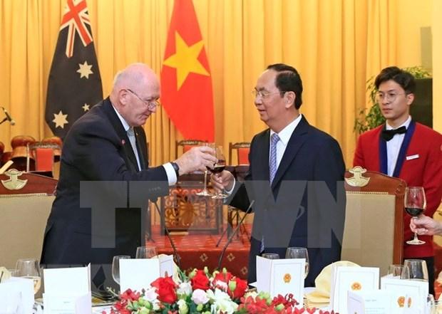 Le president Tran Dai Quang accueille le gouverneur general d'Australie hinh anh 1