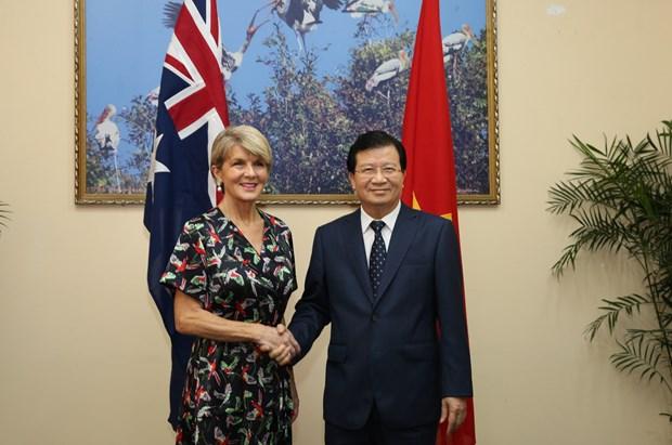 Le vice-PM vietnamien Trinh Dinh Dung recoit la ministre australienne des AE hinh anh 1