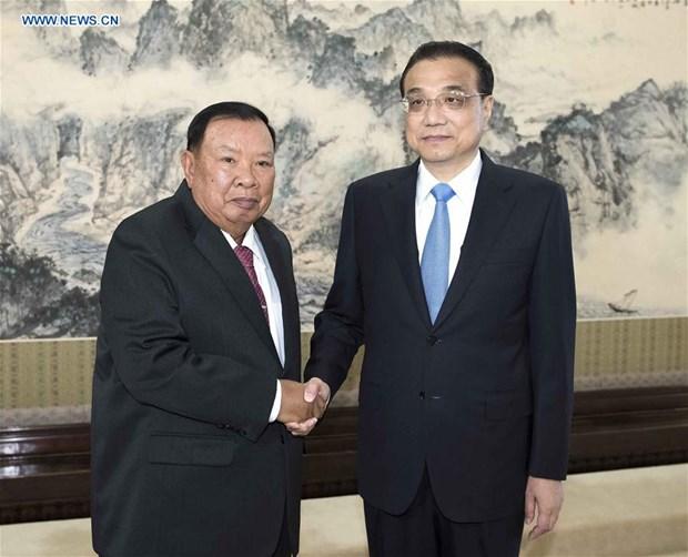 La Chine et le Laos s'accordent pour stimuler leur cooperation hinh anh 1