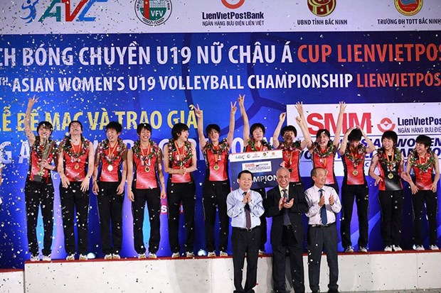 Le Japon remporte le tournoi de volley-ball feminin U19 d'Asie hinh anh 1