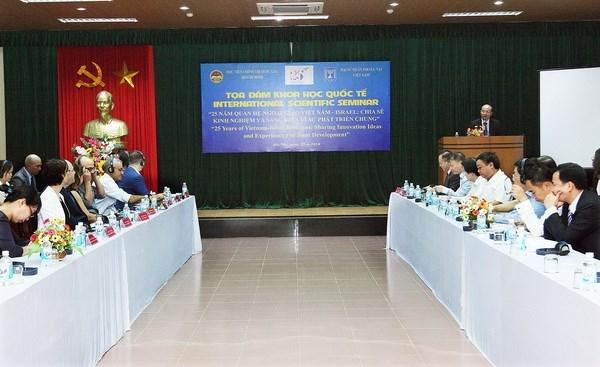 Vietnam-Israel : partage d'experiences et d'initiatives pour le developpement commun hinh anh 1
