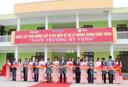 Inauguration d'une ecole financee par Samsung a Thai Nguyen hinh anh 1