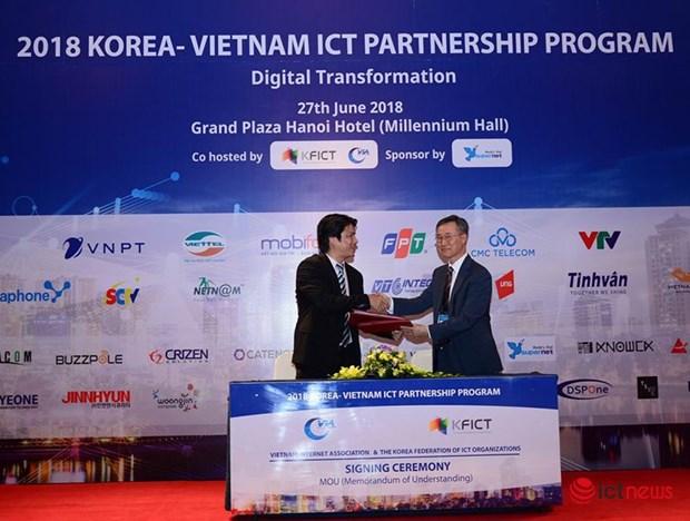 Technologie d'Information: signature d'un accord entre Seoul et Hanoi hinh anh 1