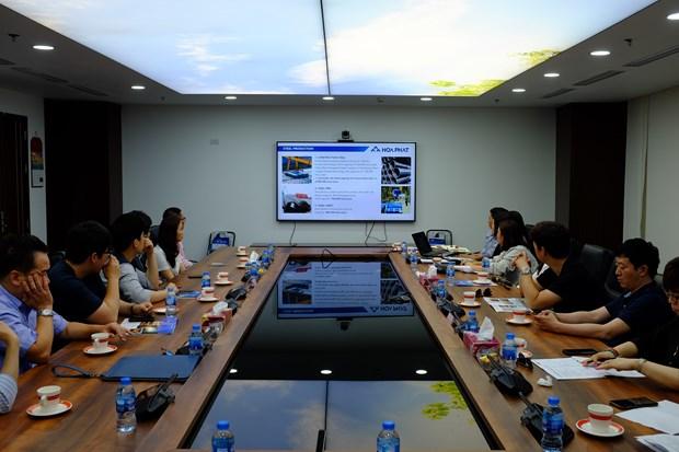 Des entreprises sud-coreennes recherchent des opportunites de cooperation avec le groupe Hoa Phat hinh anh 1