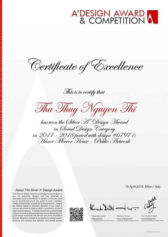 La peintre Nguyen Thu Thuy remporte la medaille d'argent a un concours international de design hinh anh 2