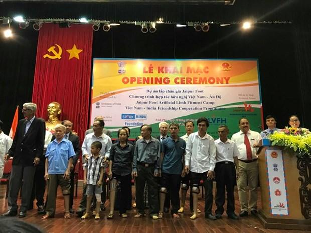 L'Inde finance un projet de protheses pour des amputes a Vinh Phuc et Phu Tho hinh anh 1