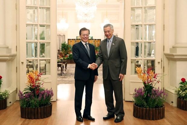La Republique de Coree souhaite intensifier ses relations avec Singapour et l'ASEAN hinh anh 1