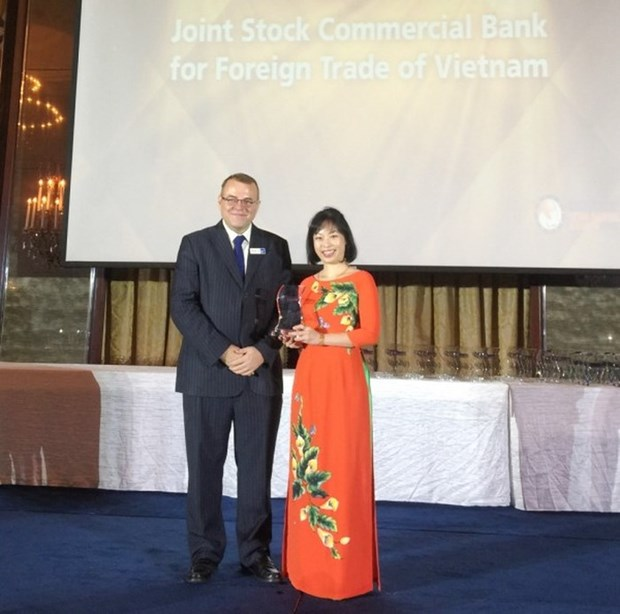 "Vietcombank recoit le prix ""Mobile Banking Initiative of the Year"" hinh anh 1"