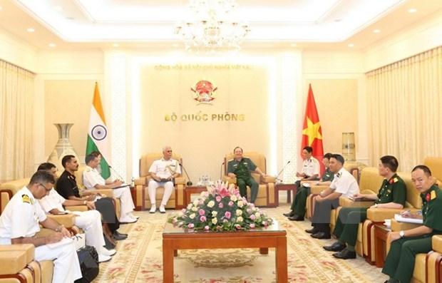 Les marines vietnamienne et indienne renforcent leur cooperation hinh anh 1