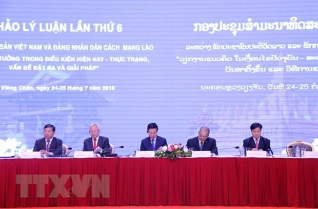 Vietnam-Laos : 6e colloque theorique des deux Partis hinh anh 1