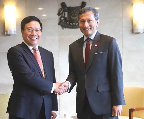 Le partenariat strategique Vietnam - Singapour connait un developpement heureux hinh anh 1