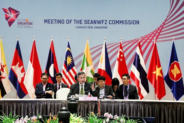 Le Vietnam assiste a des reunions du SEANWFZ et de l'AICHR a Singapour hinh anh 1