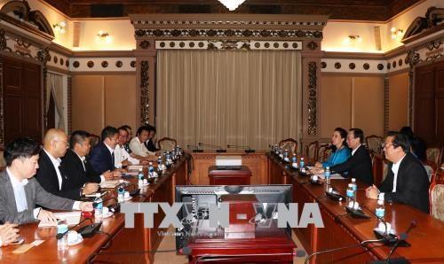 Une delegation la Chambre de commerce et d'industrie du Japon a Ho Chi Minh-Ville hinh anh 1