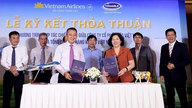 Cooperation strategique entre Vietnam Airlines et Vinamilk hinh anh 1