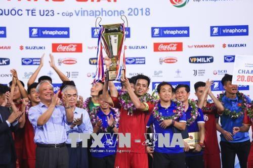 Le Vietnam devient champion du tournoi international Vinaphone U23 hinh anh 1