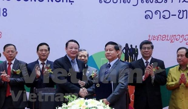 Ouverture du forum TechConnect Vietnam-Laos 2018 hinh anh 1