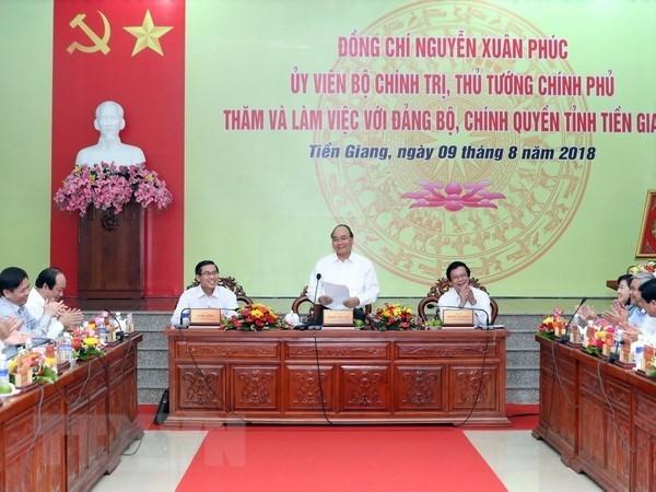 Le chef du gouvernement instaure cinq piliers pour l'economie de Tien Giang hinh anh 1