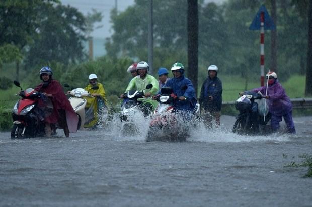 Le typhon Bebinca s'est affaibli en depression tropicale hinh anh 1