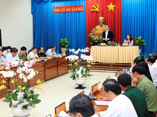 An Giang appelee a mobiliser ses forces pour un developpement rapide et durable hinh anh 1