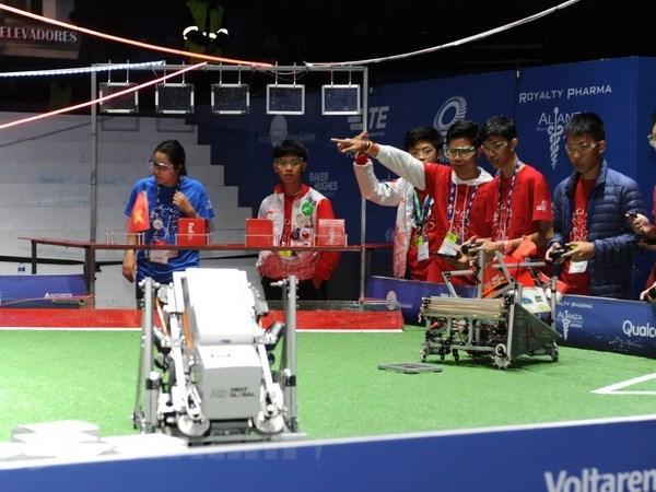 Tournoi international de robotique au Mexique : l'equipe vietnamienne se classe 12e hinh anh 1
