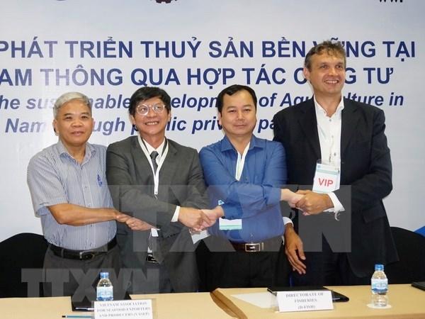 Lancement d'un projet de developpement durable de l'aquaculture dans le delta du Mekong hinh anh 1