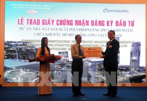 Ba Ria-Vung Tau: remise d'une licence d'investissement a un projet de 1,2 milliard de dollars hinh anh 1