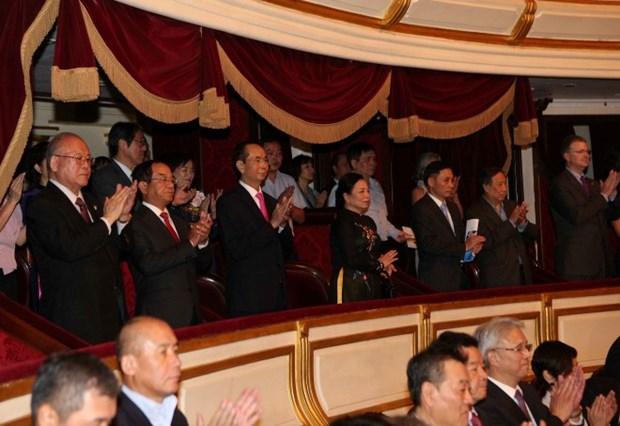 Le president au concert de celebration des 45 ans des relations diplomatiques Vietnam-Japon hinh anh 1