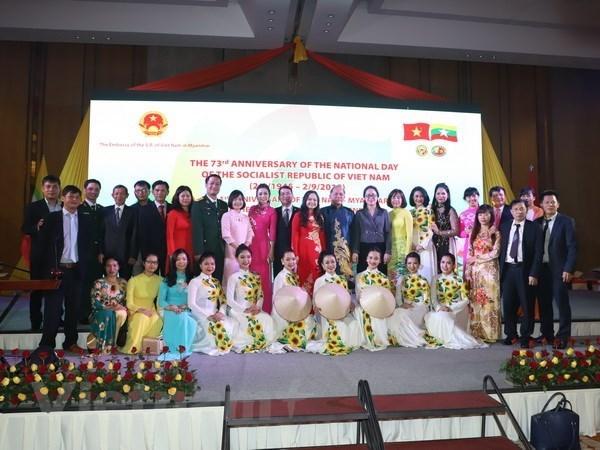 «Couleurs du Vietnam» marque la Fete nationale au Myanmar hinh anh 1
