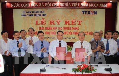 VNA et Thua Thien-Hue signent un accord de cooperation dans la communication hinh anh 1