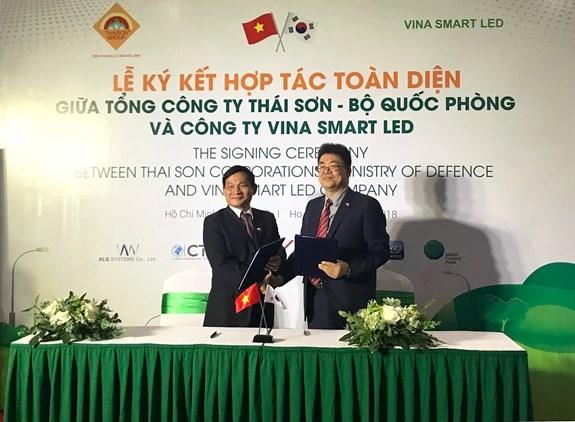 Collaboration de la compagnie Thai Son avec la R. de Coree dans la lumiere intelligente hinh anh 1