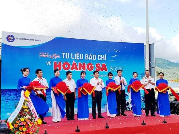 "Exposition ""Documentation de presse sur Hoang Sa"