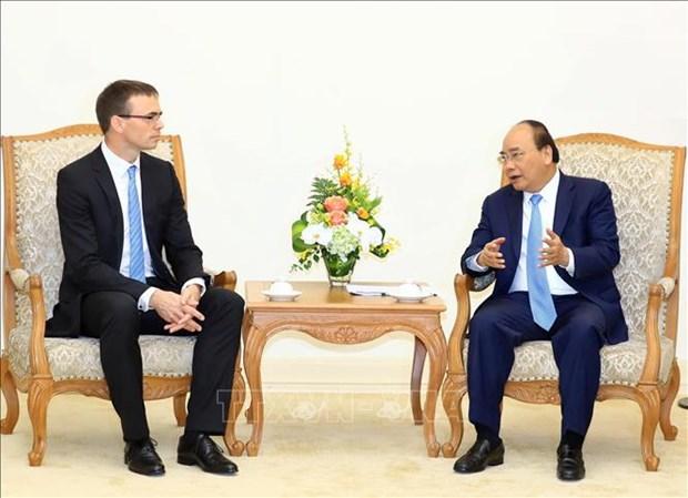Le Premier ministre rencontre le ministre estonien des Affaires etrangeres hinh anh 1
