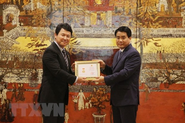 L'ambassadeur adjoint du Japon au Vietnam recoit le titre