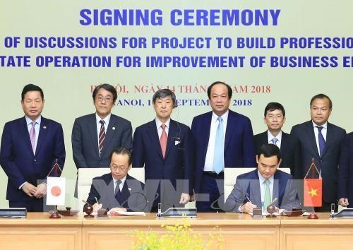 Vietnam et Japon cooperent dans la construction de l'e-gouvernement hinh anh 1