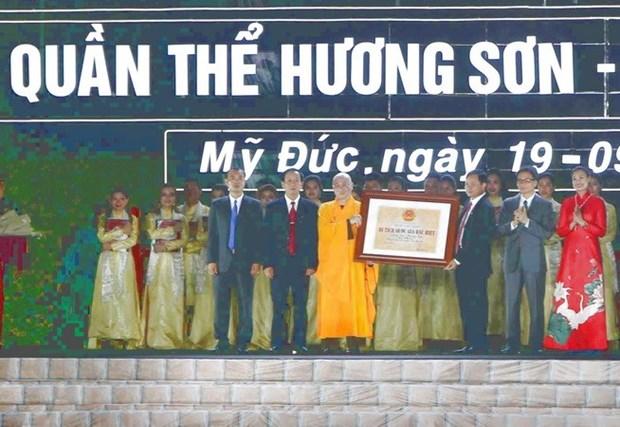 Le complexe de pagodes de Huong Son reconnu Vestige national special hinh anh 1